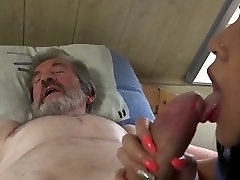 Young sexual healing for old man in ache