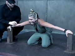 Petite bodied Sasha Heart tormented and toy pounded in BDSM clip