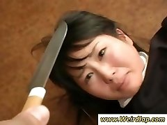 Asian maids get humiliated and handled like crap in this clip