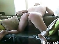 Russian Cockslut Caning A Guy