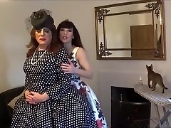 Madame C fits Angelica's rosy chastity contraption