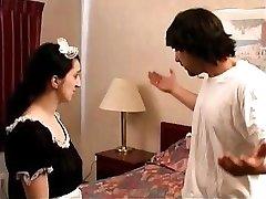 Maid Comes Knockin' for a spankin'
