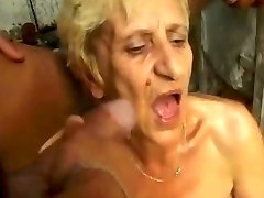 Ugly Granny gets DP jizz piss farts by satyriasiss