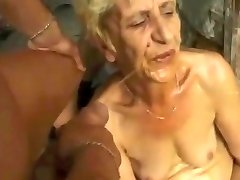 Ugly Granny gets DP spunk piss farts by satyriasiss