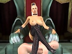 Tall big-chested blonde domme animated by tallmistresslover