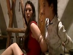 Chinese maids roped up