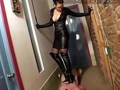 Leather Goddess Stomping