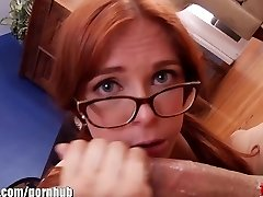 Blown Redhair bitch with glasses DT my stiffy