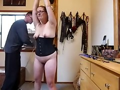 My slave Wife in glasses Disciplined