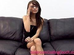 Skinny Girl in Glasses Painal & Facial