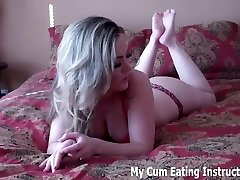 Jerk off slow and then gulp your cum CEI