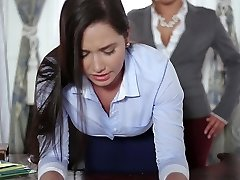 TeenCurves - Keisha Grey Pummels Submissive Secretary Karlee Grey