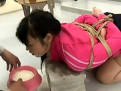 Japanese Schoolgirl Corded And Pounded in Classroom