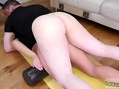 Ultimate give up brutal first-ever time Ass-Slave Yoga