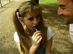 Naughty girl enjoys candy and cocks