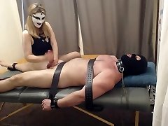 punching balls handjob and cbt, tickling