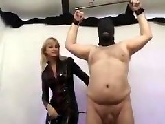 Mistress torture balls and man sausage