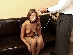 Tranced teen abjected and leashed