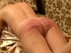 Super-naughty amateur Caning of russian slave