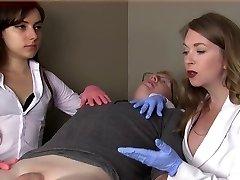 Female doctors humiliate petite dick