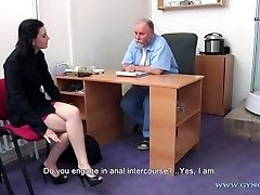 Timea Gynecology Exam - anal and vaginal inspection before butt-plug insertion