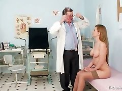 Viktorie unshaved pussy gyno gaping exam at clinic