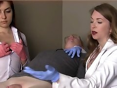 Woman doctors humiliate small dick