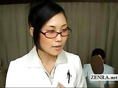 Bizarre milf Japan doctor strips for medicinal oral job