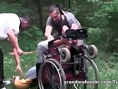 Grandma gets forced to sex