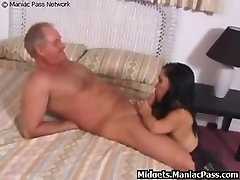 Midget Torn Up By Mature