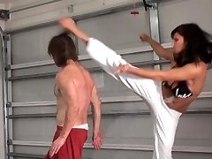 Her Bare Feet, His Face (Aggressive MMA Female Domination)