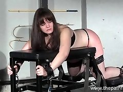 Lisas unexperienced spanking and rigid caning of round slaveslut