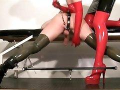 My gimp femdom video - Milking my rubber bitch