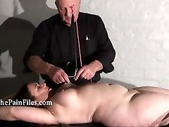 Rack tortured bbw in extraordinary bondage and crying marionette girl Nimue