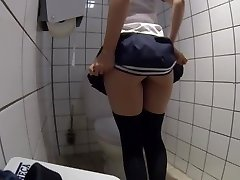 slave jacking on public toilet