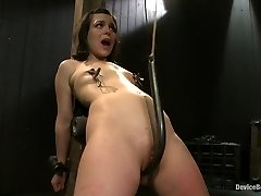 Pretty gets punished - double intrusion and made to squirt into exhaustion