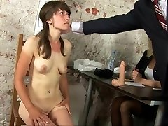 Kinky bare interview for young secretary