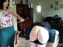 Not in My Joint – Naughty Butch Bottom Gets Smacked