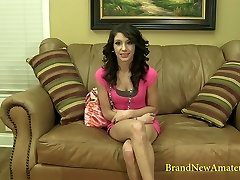 BrandNewAmateurs Violet Casting Reel Dialogue to Nude