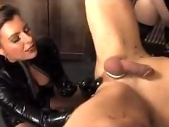 Enslaved tied up male slave fucked and tantalized