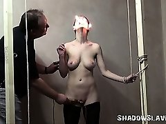 Merciless slaveslut torture of Emily X in extreme ache and hardcore interrogation of howling female prisoner in burning pain