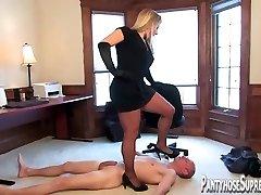 Mistress Dia Zerva pantyhose clad Domme