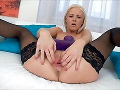 Brutal faux-cocks gaping beauty