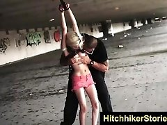 HelplessTeens Halle rough sadism & masochism for ride