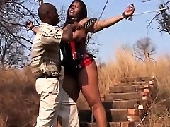 African Teen Abused Tied By Chains Leather