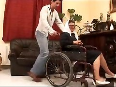 Granny in a Wheelchair Fucked Great