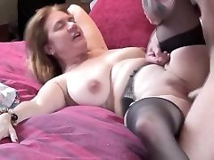 Rough sex with a busty mommy's wet honeypot