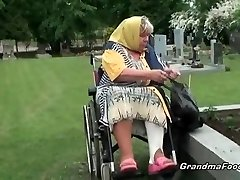 Granny gets forced to fuck-fest