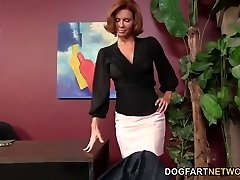 Veronica Avluv Gets Off On A Dark-hued Bone