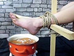 Hot foot torture